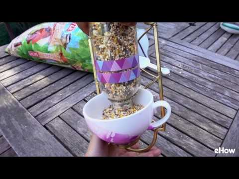 Upcycle a Wall Sconce Into a Creative Bird Feeder