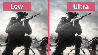 Battlefield 1 – PC Low vs. Ultra detailed Graphics Comparison & Analysis