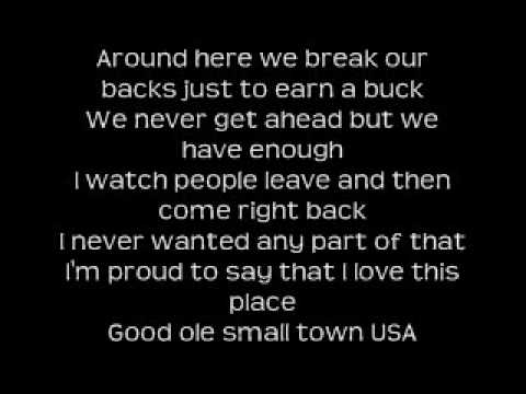 justin moore small town lyrics