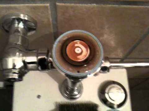 Commercial Flushometer Toilet Repair Youtube