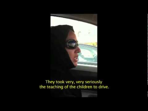 Manal Al Sharif driving in Saudi Arabia (with English subtitles)