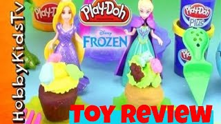 Disney FROZEN Princess Play-Doh CUPCAKE WARS! [Elsa