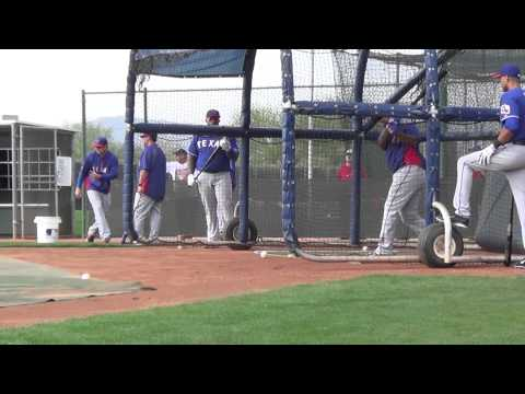Rangers Prince Fielder and Adrian Beltre BP video
