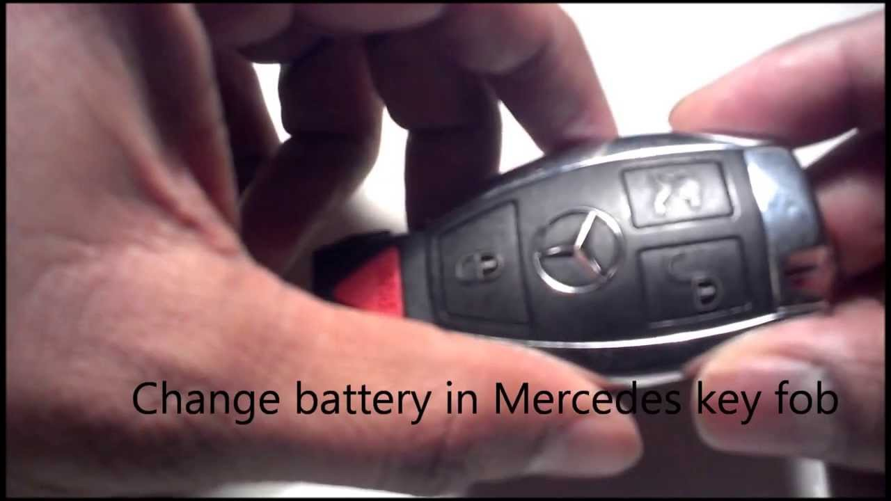 Change battery in mercedes key fob youtube for How to change mercedes benz key battery