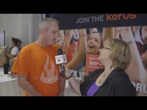 Korus Interviewed by Andrea Smith of MommyTech TV at Blogger Bash 2014