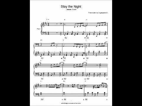 Stay the Night James Blunt Piano sheet music