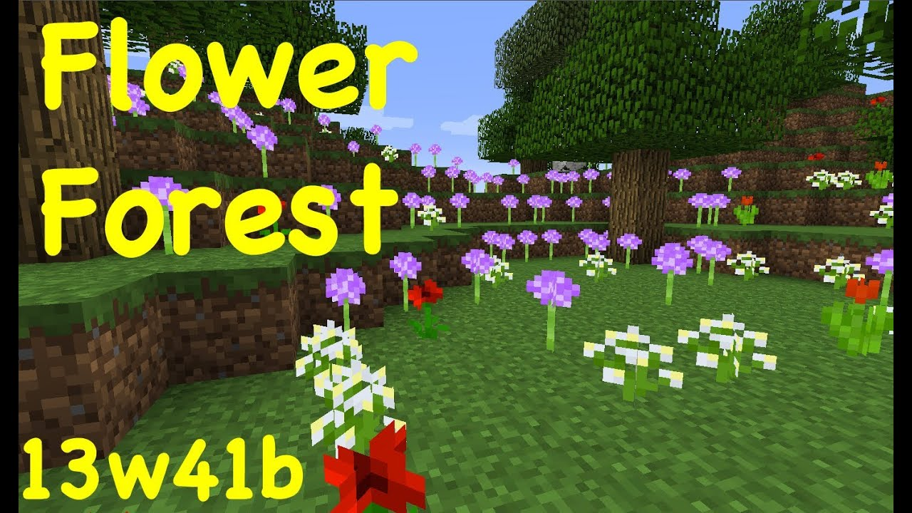 Minecraft 1 7 New Biome Flower Forest 13w41b