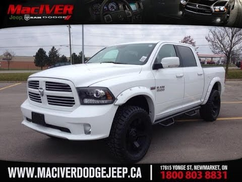 2014 ram 1500 sport crew cab w 4 lift and rockstar 2 rims maciver - 2012 Dodge Ram 1500 White With Black Rims