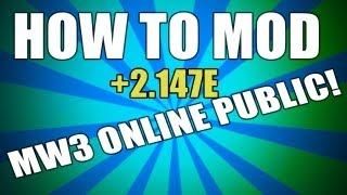 MW3 Mods How To Mod Online In PUBLIC [All Title Updates