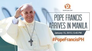 (LIVE) – Pope Francis Arrived in Manila (Full Coverage)