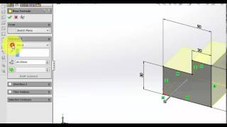 SolidWorks2015 Extrude Boss Sample 1