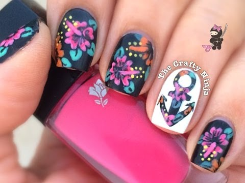 Hibiscus Flower Anchor Nails