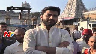 Hero Sharwanand Visits Tirumala