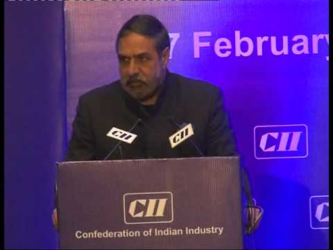 Shri Anand Sharma, Minister of Commerce and Industry addressing the CII National Council