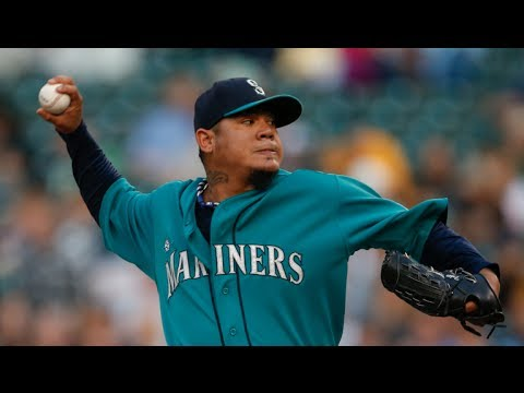 An inside look at Seattle Mariners pitcher Felix Hernandez with catcher Mike Zunino