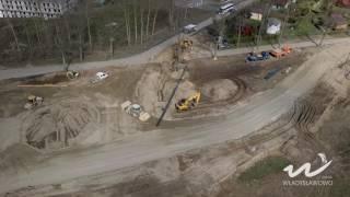 Na skrzyżowaniu drogi na Łebcz z ul. Żwirową i Drogą Chłapowską we Władysławowie trwa budowa nowego ronda