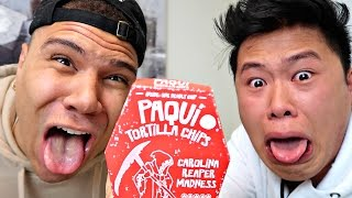 World's Hottest Chip Challenge (CAROLINA REAPER ONE CHIP CHALLENGE!!!)