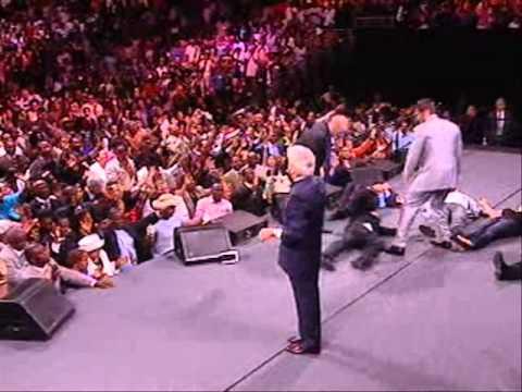 Benny Hinn - Power of God Falling In  Philadelphia