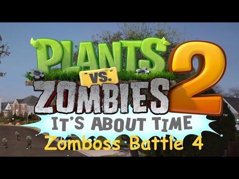 Plants vs Zombies 2 - PC - Zomboss Battle - Far Future