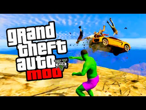 GTA 5 Hulk Mod - NEW GTA 5 Mods & Hulk Skin Mod Gameplay! (GTA 5 PC Mods)