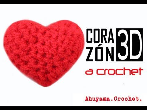 Corazón 3D a Crochet - PASO A PASO