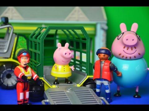 Fireman Sam Episode Peppa Pig Rescue Daddy Pig Playmobil Full Story
