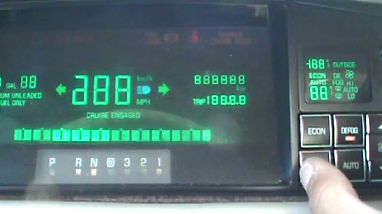 Cadillac Deville Gauge Cluster Reprogramming Engine Rpm