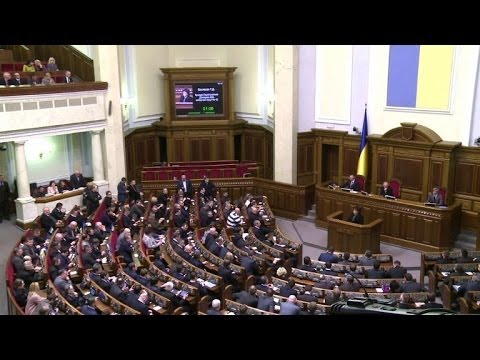 Ukraine protesters react after resignation of PM