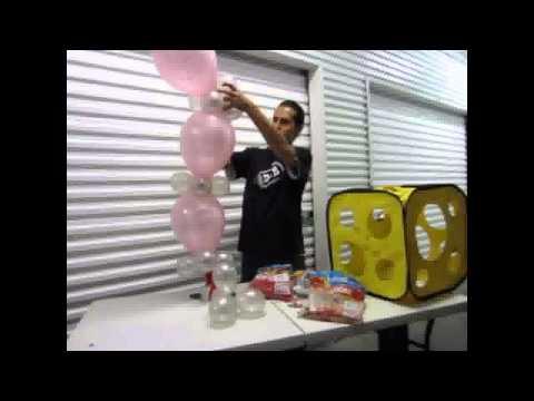 Como crear una columna con globo bipolo - Decoraciones con globos
