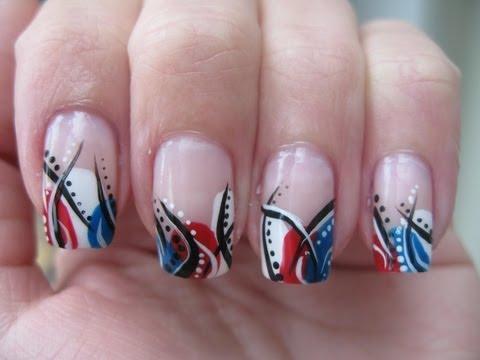 Nail art: 4th of July design