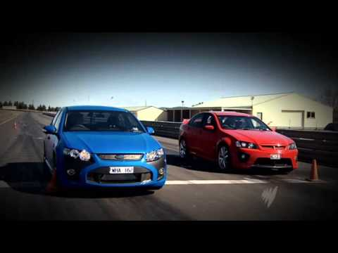 Top Gear Australia Ford FPV F6 vs Holden HSV Clubsport