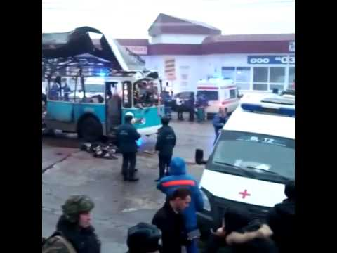 Trolley bus blast in Volgograd kills at least 10 in terrorist attack