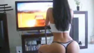 Sexy Girl Play Video Game