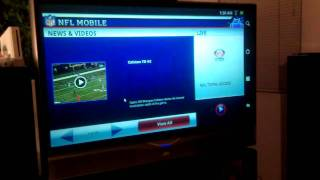 Archos 101 HDMI Out To TV Playing Movies, Angry Birds