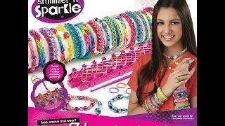 Shimmer N Sparkle Cra-Z-Loom Rubber Band Bracelet Maker Vs