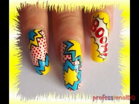 Pop Art Nails! [collab with superminx66] - YouTube