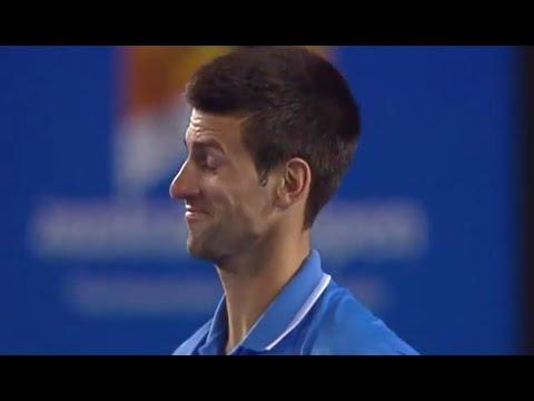 Did anyone tell Novak he won the set? - Australian Open 2015