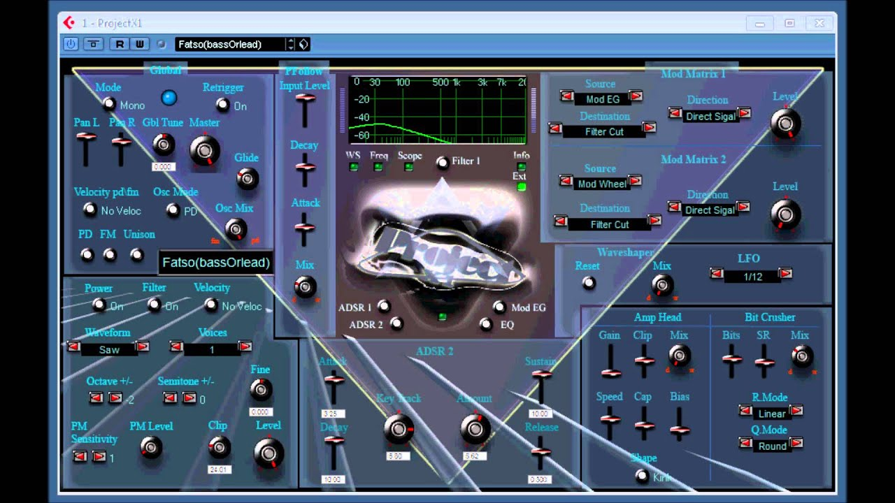 VSTI ProjectX1 Bass Synth Plugin Gratuit