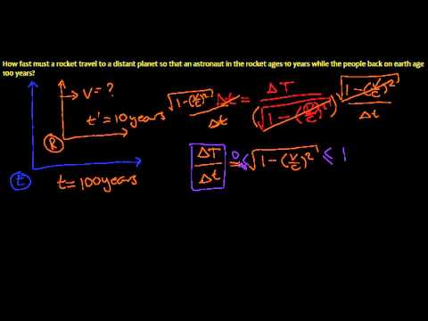 14. Time Dilation in Special Relativity - Example Problem 1