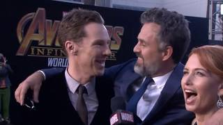 Mark Ruffalo Benedict Cumberbatch Karen Gillan Interview - Avengers Infinity War World Premiere