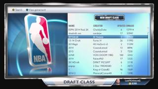 NBA 2K14 Next Gen Best Draft Class My GM NBA 2K15
