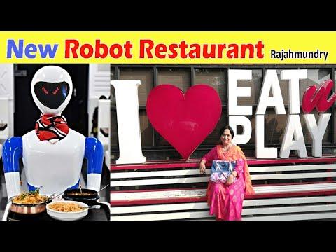 Superb 🤖 Robot  Restaurant in Rajahmundry 👌| Robot serves food - Eat & Play vlog
