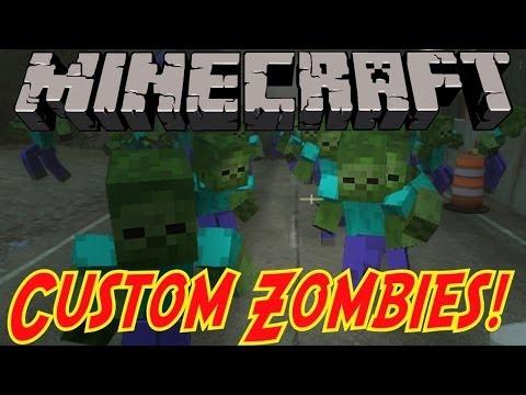 """Hình ảnh trong video """"CREEPY ZOMBIES!"""" - Custom Zombies """"MINECRAFT"""