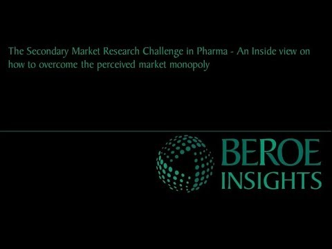 The secondary market research challenge in Pharma - An inside view
