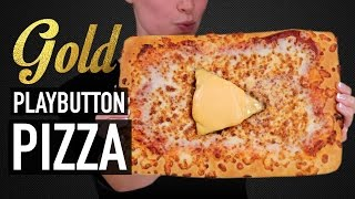 DIY GOLD PLAY BUTTON PIZZA - VERSUS