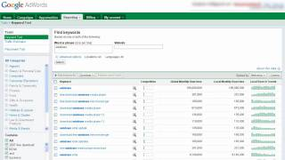 Keyword Research Google Adwords Keyword Tool 2010