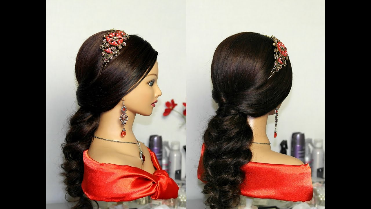 Party Hairstyles For Long Hair Youtube : Wedding prom party hairstyles for long hair. ??????? ...