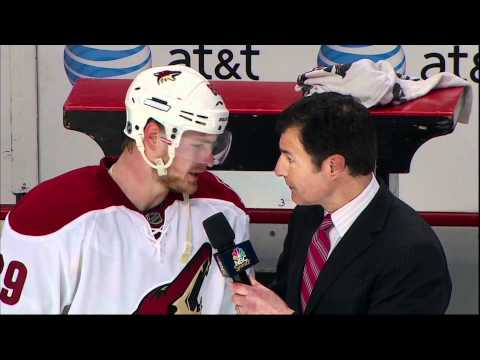Mikkel Boedker OT game winner goal. Phoenix Coyotes vs Chicago Blackhawks 4/17/12 NHL Hockey