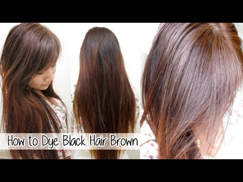 how to dye hair from black to brown without bleach l