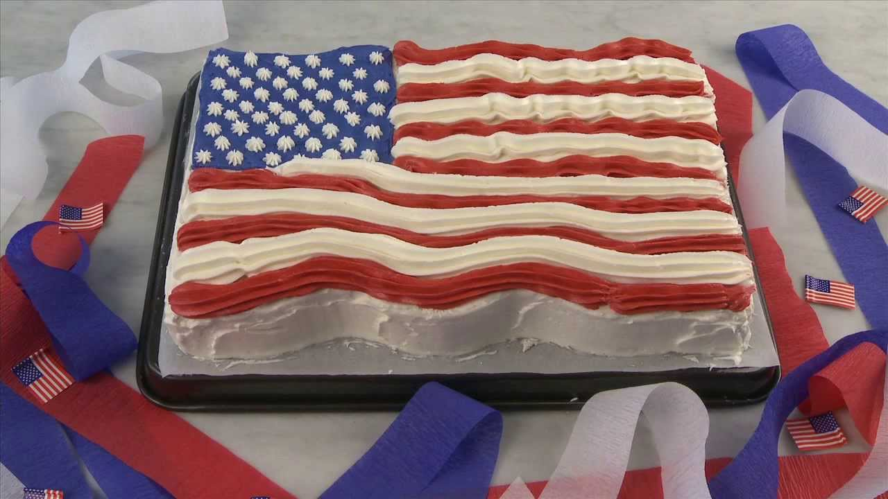 Cake Recipes - Flag Cake - YouTube